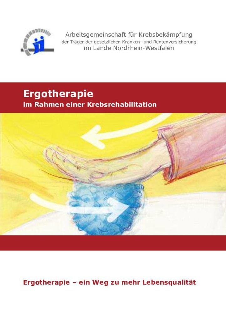 Titel Ergotherapie Broschüre