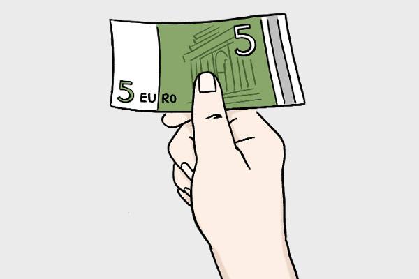 Illustration Geldschein