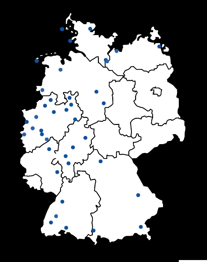 Deutschland Karte mit Standorten