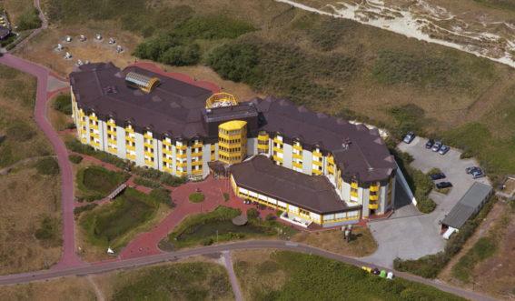 Luftaufnahme der Knappschafts-Klinik Borkum