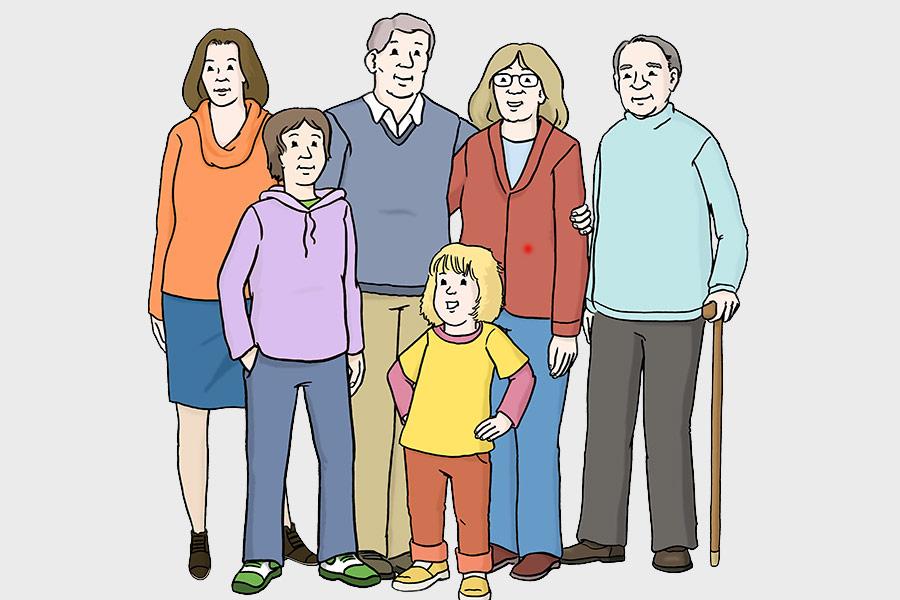 Illustration Menschengruppe