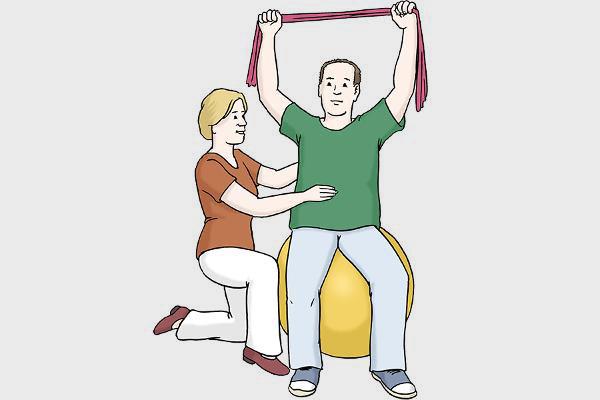 Illustration Krankengymnatik Übung