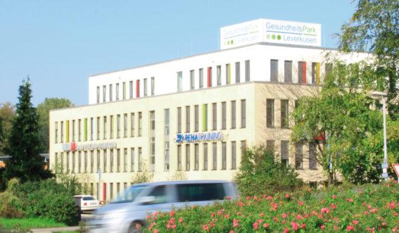 Gebäude im Gesundheitspark Leverkusen